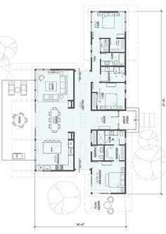 SD154-floor plan 2,185 square feet 1 Story 3 Bedroom 2.5 Bathroom