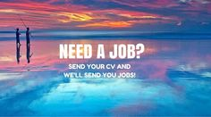Need a job? Simply send us your CV and we will send you the latest job opportunities that fit your interests and skills. Need A Job, Dream Job, Dreaming Of You, Opportunity, Career, Neon Signs, Fit, Carrera