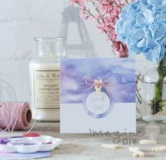 Idea to make your own wedding save the date card. DIY wedding stationery supplies
