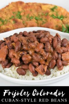 Cuban Style Red Beans When you think Cuban food, beans are usually on the menu. Cuban Style Red Beans When you think Cuban food, beans are usually on the menu. These Cuban style Cuban Red Beans And Rice Recipe, 9 Bean Soup Recipe, Red Beans And Rice Recipe Easy, Easy Rice Recipes, Easy Homemade Recipes, Cuban Rice, Cuban Pork, Cuban Recipes, Lentil Recipes