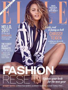 Chrissy Teigen on ELLE Magazine Australia January 2017 Cover