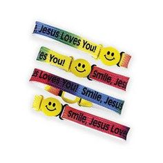 """Dozen Nylon """"Smile! Jesus Loves You!"""" Friendship Bracelets -- Find out more about the great product at the image link."""
