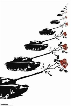 Akomplice Tanks Roses Peace Anti-War Protest Pop Art Poster 24 x 36 inches, By Imaginus Posters // $7.95  Features: - Full Size Poster - Condition: Brand New - Size: 24 x 36 inches - This poster will be rolled securely in a sturdy cardboard tube.-  >>Get Inspired! - Visit http://artcaffeine.imobileappsys.com