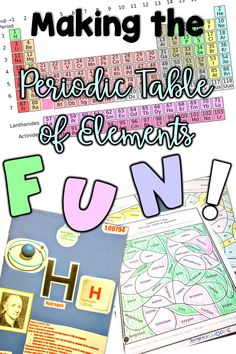 Making the Periodic Table of Elements FUN for Your Students is part of Science Design Grades - How to teach the periodic table in a FUN way that will engage and motivate your upper elementary and middle school students Chemistry Lessons, Teaching Chemistry, Science Chemistry, Science Lessons, Science Activities, Science Ideas, Science Experiments, Kid Science, Science Lesson Plans