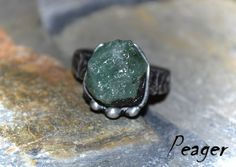 Emerald ringStatement ringCocktail ringGreen by PeagerFantasyWorld