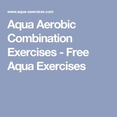 FREE WATER AEROBICS EXERCISE CHARTS AND LIVE VIDEOS ...