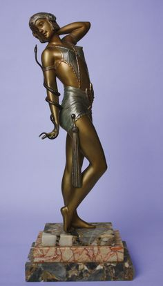 "A. Leclerc, Art Deco Figure ""Cleopatra"", France. ca.1930."
