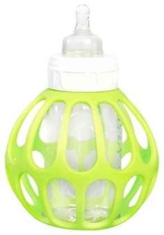 This tactile bottle holder provides extra grip for toddlers lacking in the hand coordination department.