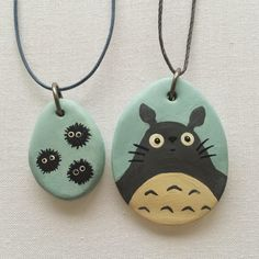 scientific culture: Polymer Clay Pendants - playing with Studio Ghibli