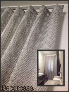 SPAZIO AI VOSTRI PROGETTI! Idea tendaggio realizzata da Decorcasa. Località: Porto Sant'Elpidio.  Ci presentano il nostro tessuto #Figazzano della Collezione #TrameDiPuglia.  Visita il nostro sito www.ctasrl.com e scarica le nostre brochure su: http://bit.ly/1nhrLQM #beauty #geometricleaves #trendy #tessuti #interiordesign #tendaggi #textile #textiles #fabric #homedecor #homedesign #hometextile #decoration