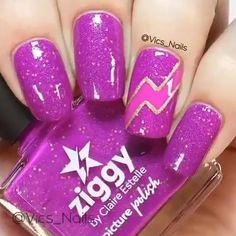 Nail Art Designs Videos, Cute Nail Art Designs, Pink Nail Designs, Nail Art Videos, Gel Nails, Acrylic Nails, Manicure, Unicorn Nails Designs, Purple Nails
