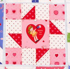 Pinwheel, p48. Back to School with Pam Kitty: Row 4 - Fat Quarter Shop's Jolly Jabber
