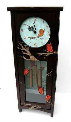 Little grandfather clock painted by Boy Girl Party - Susie Ghahremani.