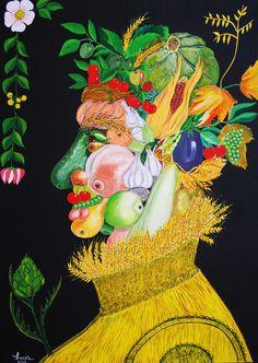 Arcimboldo head by Lucia Soldà