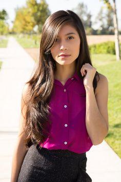 Violet Button Down Collar Shirt