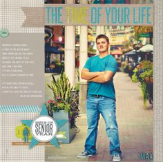 The Time of Your Life layout by Laina Lamb, created for Scrapbooking Boys & Men special issue of Creating Keepsakes magazine. http://www.creatingkeepsakes.com/issues/Scrapbooking_Boys_and_Men