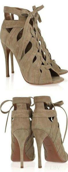 Alaïa Cutout Lace-Up Sandals | LBV ♥✤
