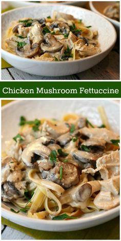 Fettuccine Recipes, Pasta Recipes, Chicken Recipes, Dinner Recipes, Cooking Recipes, Healthy Recipes, Recipe Chicken, Chicken Fettuccine, Chicken Pasta