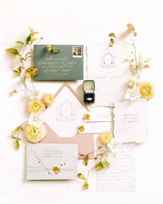 Top Wedding Color Trends for 2019 - Wedding Colors Wedding Stationery Inspiration, Beautiful Wedding Invitations, Wedding Invitation Design, Wedding Stationary, Wedding Inspiration, Flat Lay Inspiration, Wedding Programs, Wedding Paper, Diy Wedding