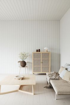 Decorated with wood in light Scandinavian tones - Norrland wood Living Room Inspiration, Interior Design Inspiration, Wooden Shoe Racks, Brown Interior, Scandinavian Design, Scandinavian Kitchen, Wall Design, Interior Decorating, House