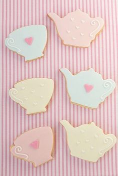 Teapot and Cup Cookies #tealover #partycookie