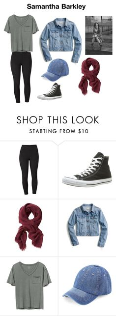 """""""Untitled #26"""" by alessiabazzurro on Polyvore featuring Venus, Converse, Banana Republic, J.Crew, Gap, WithChic and plus size clothing"""