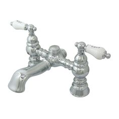 CC1132T1 Kingston Brass Chrome Deck Mount Clawfoot Tub Faucet