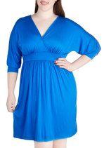 Set the World on Sapphire Dress in Plus Size | Mod Retro Vintage Dresses | ModCloth.com