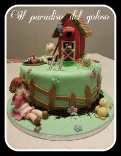 torta per una ragazzina amante della campagna #CUPCAKE #halloween #solocosebuone #bakery #torte #cake #yummy #sugar art #patisserie #desserts #sweettooth #chocolate #eat #yum #delicious #tasty #hungry #yum #icecream #foodpics #TagsForLike