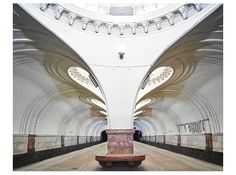 David Burdeny Sokol Metro Station, Moscow, Russia presented by Bau-Xi Gallery Contemporary Fine Art David Burdeny, Culture Russe, U Bahn Station, Subway Series, Moscow Metro, Art Et Design, Underground World, Metro Station, Bright Future