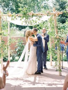 Pretty Denver Botanic Gardens Wedding – Decorus Fine Art Photography 26  Insert gorgeous flora in every scene of your wedding by getting married in a botanic garden!  #bridalmusings #bmloves #wedding #ido #bride #groom #floral #botanicgarden #garden #flowers Denver Botanic Gardens, Bridal Musings, Couple Pictures, Botanical Gardens, Fine Art Photography, Garden Wedding, Bride Groom, Getting Married, Wedding Ceremony