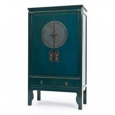 Teal Lacquer Wedding cabinet  $2,395.00