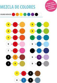 colores para mezclar - Buscar con Google                                                                                                                                                                                 Más