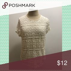 Lace top Cute forever 21 lace top! Only worn once! Perfect for Easter or spring, not for girls with long torsos! Forever 21 Tops Blouses