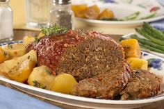 Slow Cooked Meat Loaf and Potatoes | mrfood.com