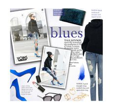 """YOINS 6/10/2 - blues"" by federica-m ❤ liked on Polyvore featuring Manolo Blahnik, NARS Cosmetics, Sigma Beauty, Karen Walker, vintage, GetTheLook, LookForLess, blogger and yoins"