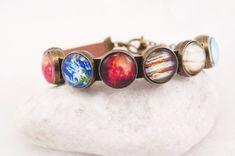 Solar System Bracelet Space Bracelet Planet by NewJewelleryStory