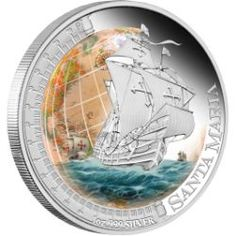 2011 Ships That Changed The World - Santa Maria 1oz Silver Proof Coin