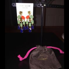 AUTHENTIC KATE SPADE CHANDELIER EARRINGS AUTHENTIC KATE SPADE CHANDELIER EARRINGS With Drawstring Pouch. New With Tags. Retails For $78 -Sacrificing For $40 Kate Spade Jewelry Earrings