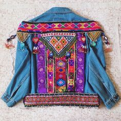 #wildandfreejewelry #wildandfree Custom Embellished Denim Jacket