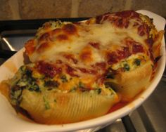 Ricotta, Goat Cheese and Spinach stuffed shells | cooking for you