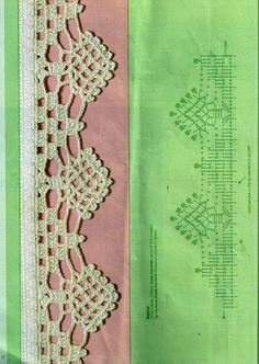 Tecendo Artes em Crochet: Uma Seleção de Barradinhos Lindos para Vocês! Crochet Boarders, Crochet Lace Edging, Crochet Diagram, Crochet Chart, Thread Crochet, Crochet Trim, Crochet Doilies, Crochet Stitches, Knit Crochet