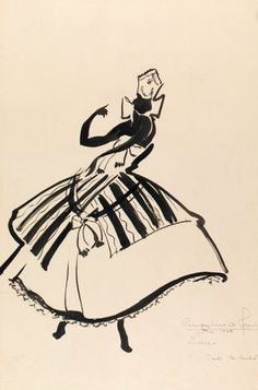 Costume design for the ballet 'Os Orixás' in 1965, Brazil.