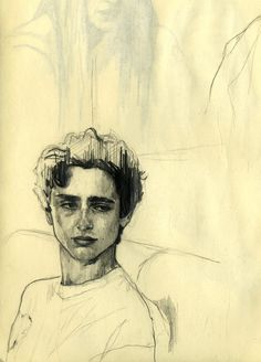 Elio - Call me by your name - Illustration by Belén Diz Juncal. Timothée Chalamet as Elio in Luca Guadagnino& film Call m - Girl Illustration Art, Vintage Illustration, Character Illustration, Digital Illustration, Medical Illustration, Name Drawings, Art Drawings Sketches, Portrait Sketches, Pencil Drawings