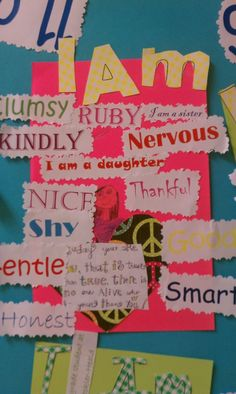 Fun for kids to go through a stack of magazines to find words to describe, cut, glue.  Put some students on computer to print out word art.  This would be inserted into their writers notebook to be used as a seed idea later!