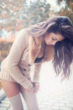 titillate-me:  p: Alexander Titov m: Lena – wearing Zara cable knit sweater
