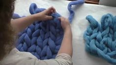 arm knitting - YouTube