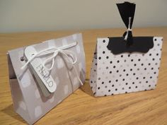 CraftyCarolineCreates: Mini Gift Bags Tutorial using Go Wild 6 x 6 DSP Stacks from Stampin' Up, Perfect for Wedding Favours!