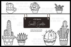 Small Garden & Coffee Shop - Illustrations