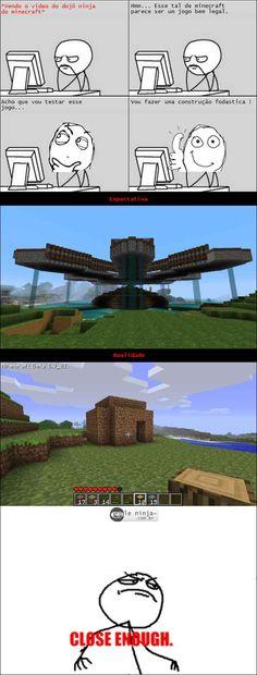 Construindo no minecraft